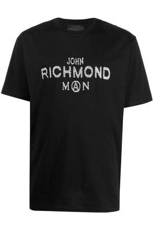 John Richmond Sequin-embellished logo T-shirt