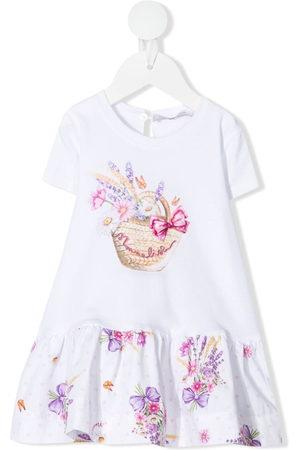 MONNALISA Baby Printed Dresses - Floral-print jersey dress