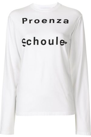 PROENZA SCHOULER WHITE LABEL Women Long Sleeve - Long sleeve logo T-shirt