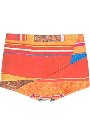 AMIR SLAMA Men Swimming Trunks - Striped panels swimming trunks