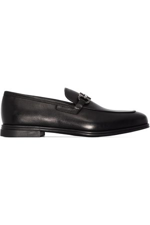 Salvatore Ferragamo Gancini appliqué leather loafers
