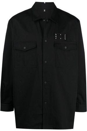 McQ Men Shirts - Stitch-print shirt jacket
