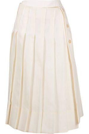 Jacquemus Women Pleated Skirts - Pleated linen skirt