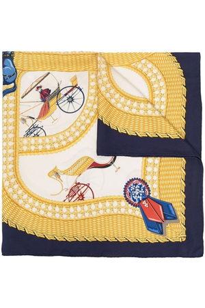 Hermès Scarves - Pre-owned Carriage print silk scarf