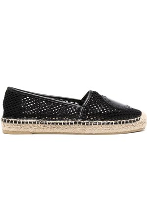 Stella McCartney Women Casual Shoes - Logo-patch mesh-knit espadrilles