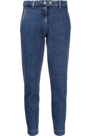 Pinko Women Tapered - High-rise tapered leg jeans