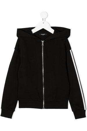 Balmain Boys Hoodies - Side-logo zipped hoodie
