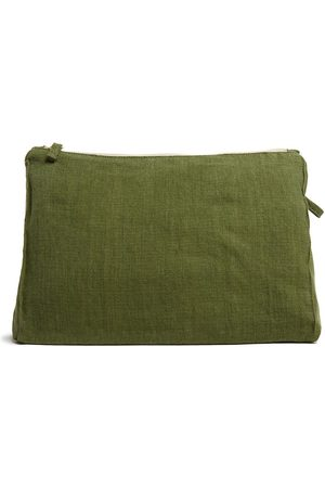 Once Milano Zip-up linen pouch