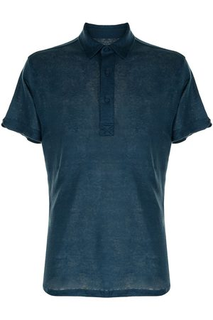 Orlebar Brown Men Polo Shirts - Pointed-collar cotton polo shirt