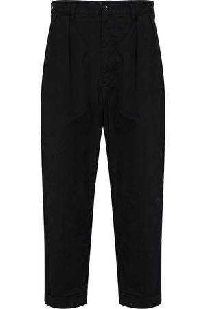 Beams Men Trousers - Dart-detailing cropped trousers