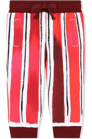 Dolce & Gabbana Sports Trousers - Striped logo-print track pants