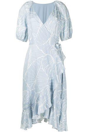 Marchesa Notte Women Dresses - Short puff-sleeve dress