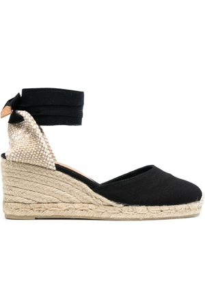Castaner Women Wedge Sandals - Carina lace-up wedge espadrilles