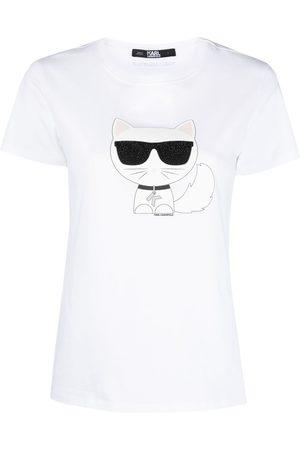 Karl Lagerfeld Sequin cat print T-shirt