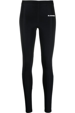 Jil Sander Women Sports Leggings - Logo-print leggings