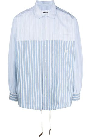 AMBUSH Men Long Sleeve - Striped drawstring shirt