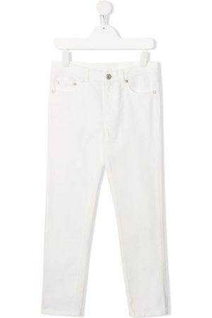 Moncler Girls Slim - Logo detail slim jeans