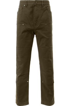 Lanvin Men Slim Trousers - Panelled denim trousers
