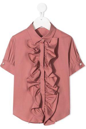 Brunello Cucinelli Ruffle short-sleeve shirt