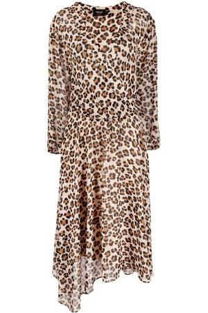 Liu Jo Women Printed Dresses - Leopard print asymmetric dress