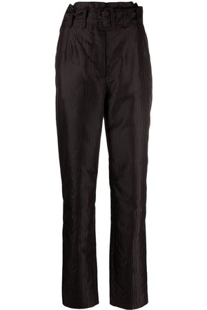 ROTATE Women Trousers - High-waist belted trousers