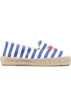 Serafini Women Casual Shoes - Embroidered striped espadrilles