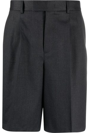 VALENTINO Men Shorts - Stripe-detail knee-length shorts