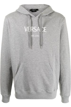 VERSACE Logo-embroidered hoodie