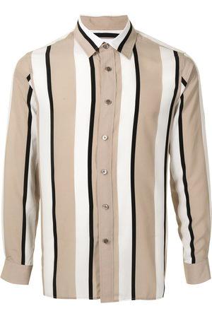 Ports V Long Sleeve - Vertical stripe print shirt