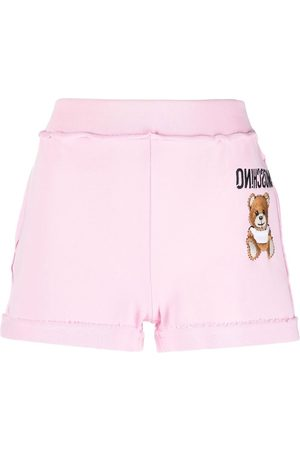 Moschino Embroidered-logo track shorts