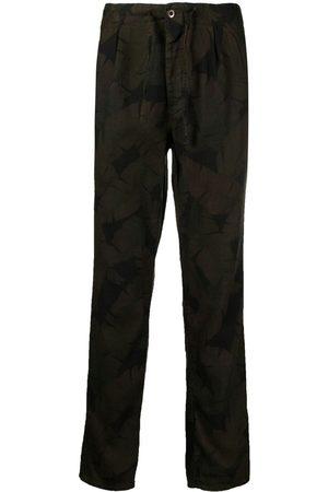 Incotex Men Trousers - Leaf print carrot-fit trousers