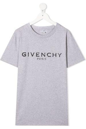 Givenchy Boys Short Sleeve - Logo-print T-shirt