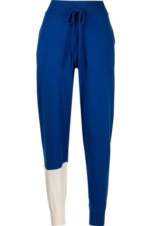 MONSE Women Formal Trousers - Colour-block wool knit trousers