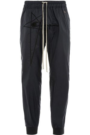 Rick Owens Men Trousers - X Champion logo-embroidered track pants