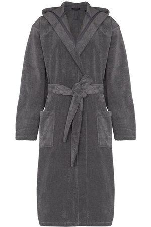 Schiesser Men Bathrobes - Hooded cotton bathrobe