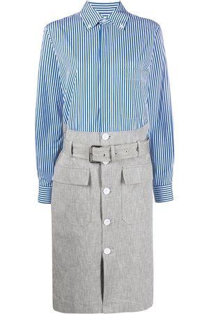 Plan C Women Casual Dresses - Stripe belted shirtdress