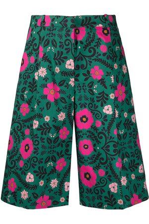La DoubleJ Women Bermudas - Floral-print Bermuda shorts