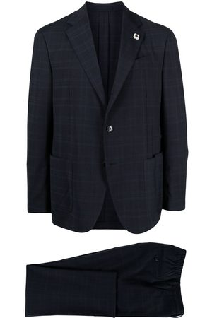 LARDINI Men Suits - Check print two piece suit