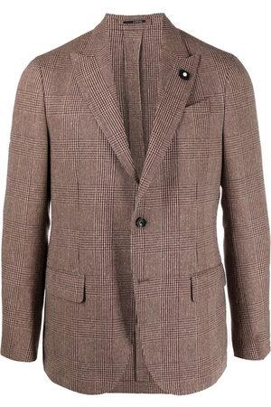 LARDINI Men Blazers - Checked single-breasted blazer