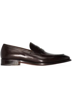 santoni Men Loafers - Penny-slot slip-on loafers
