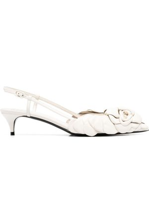 VALENTINO GARAVANI Women High Heels - Appliqué-detail pointed-toe pumps