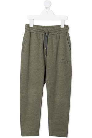 Brunello Cucinelli Boys Sports Trousers - Drawstring tracksuit bottoms