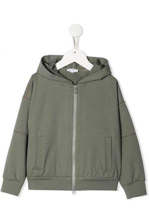 Brunello Cucinelli Stud-embellished hooded jacket