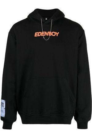McQ Men Jumpers - Slogan-print pullover hoodie