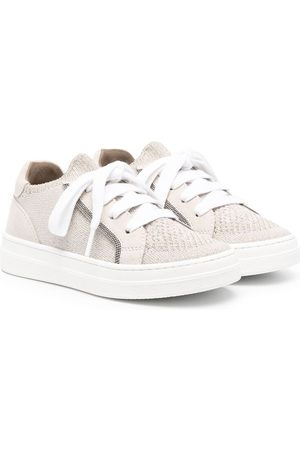 Brunello Cucinelli Stud-embellished lace-up sneakers