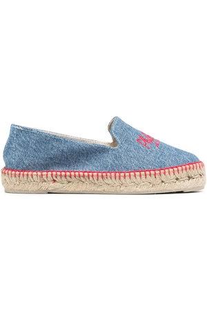 Serafini Women Casual Shoes - Embroidered-logo denim espadrilles