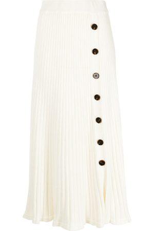 Anna Quan Button-up pleated midi skirt