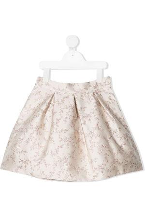 LA STUPENDERIA Girls Printed Skirts - Luce floral-print miniskirt