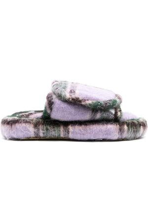 DUOltd Men Footwear - Volume tartan wool slippers