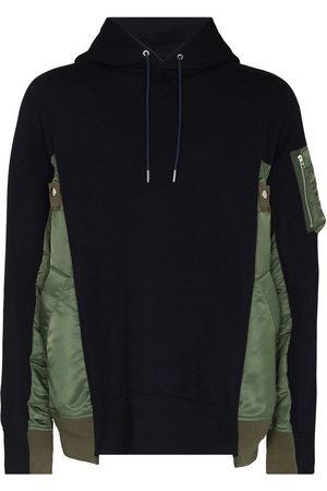 SACAI Two-tone panelled hoodie